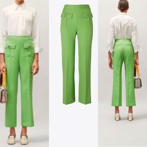 Tory Burch D Ring Cropped Pant in Bright Clover